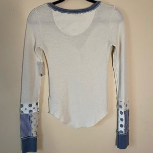 Free People Tops - Free People Railroad Mixed Print Henley NWOT Sz XS